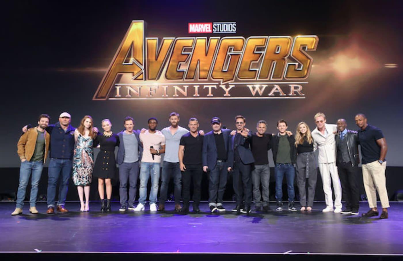 'Avengers: Infinity War' cast photo.