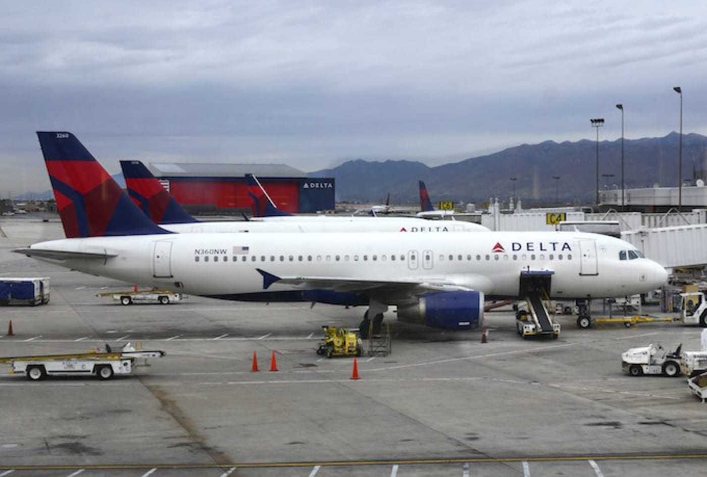 Delta airplanes at airport