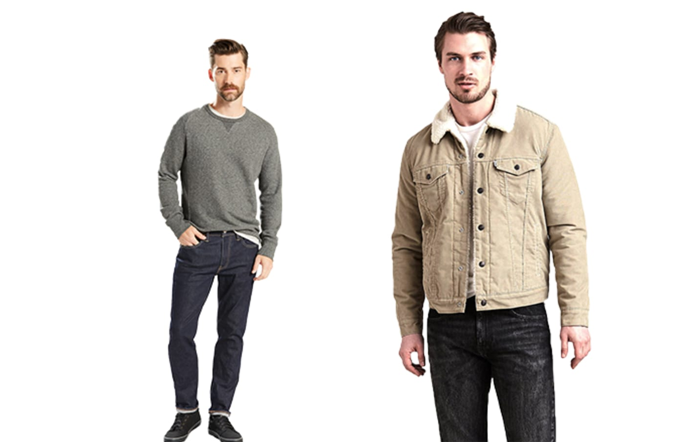 levis sherpa and jeans