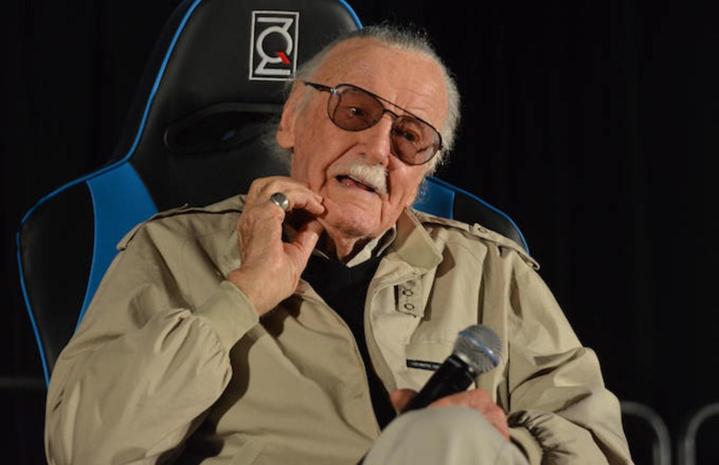 Marvel Comic book creator Stan Lee speaks at the 2017 Adelaide Supanova.