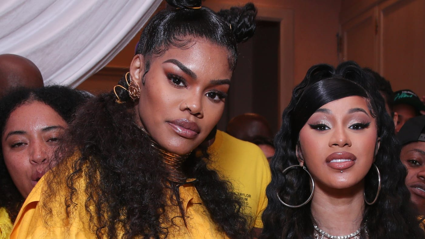 "Teyana Taylor and Cardi B attend the Teyana Taylor ""The Album"" Listening Party"