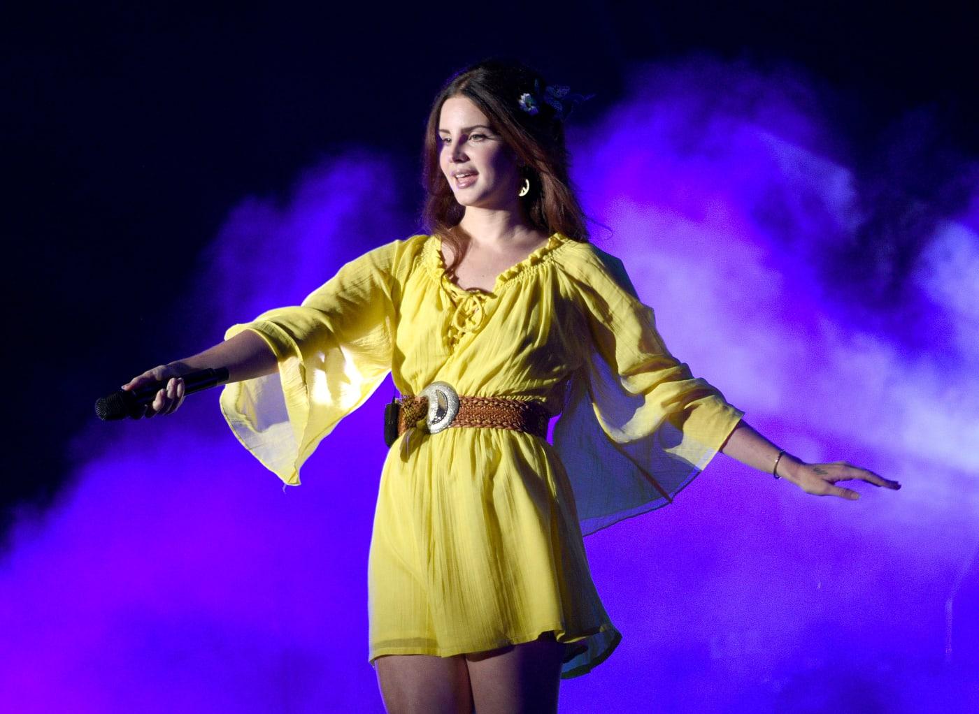 Lana Del Rey Yellow Dress Image