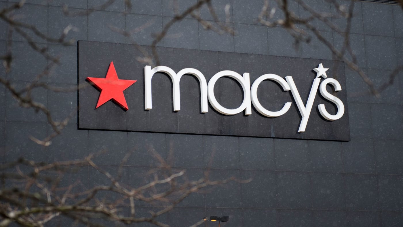 The exterior of a Macy's department store is seen at the Landmark Mall.