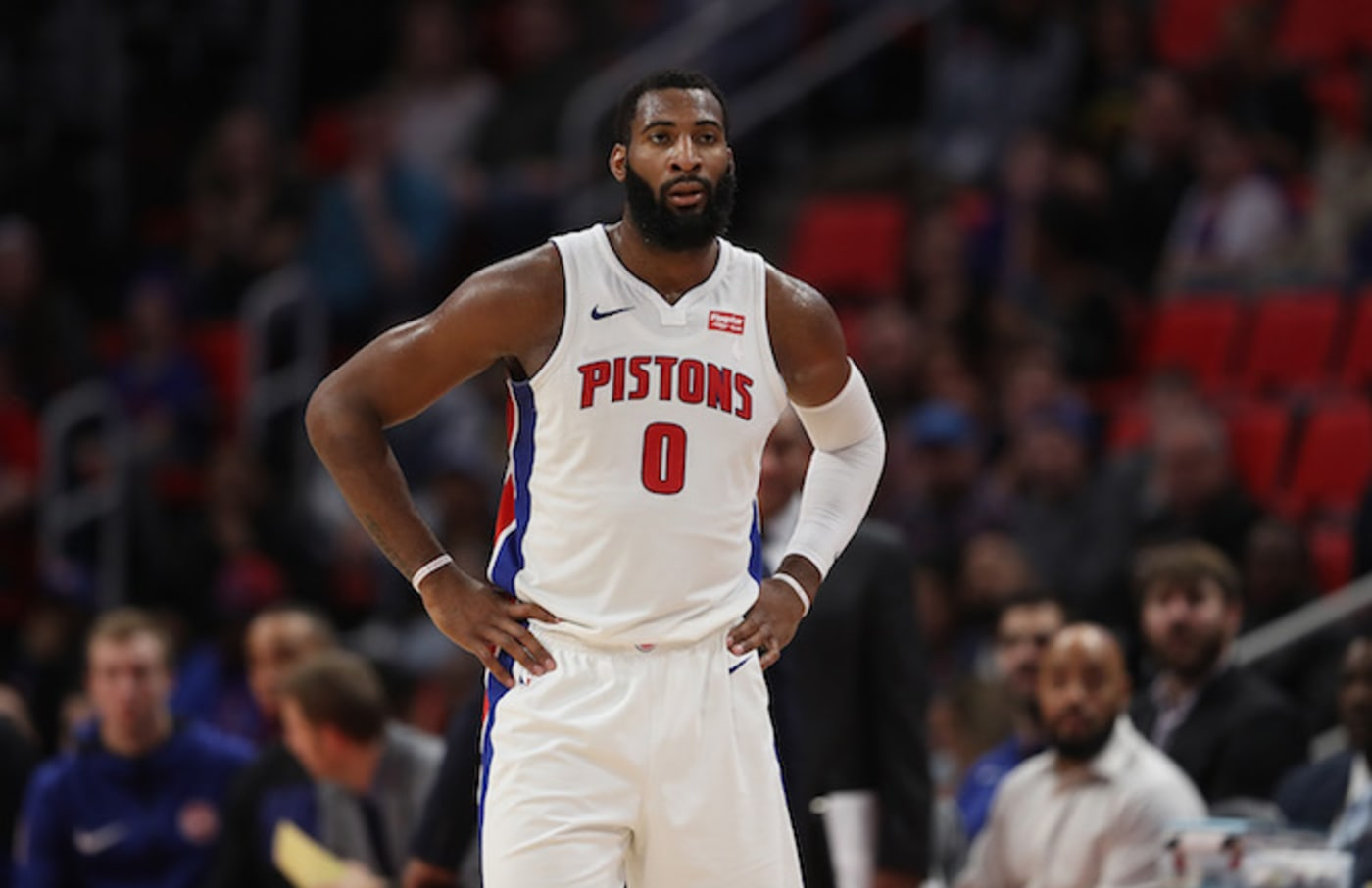 Andre Drummond #0 of the Detroit Pistons