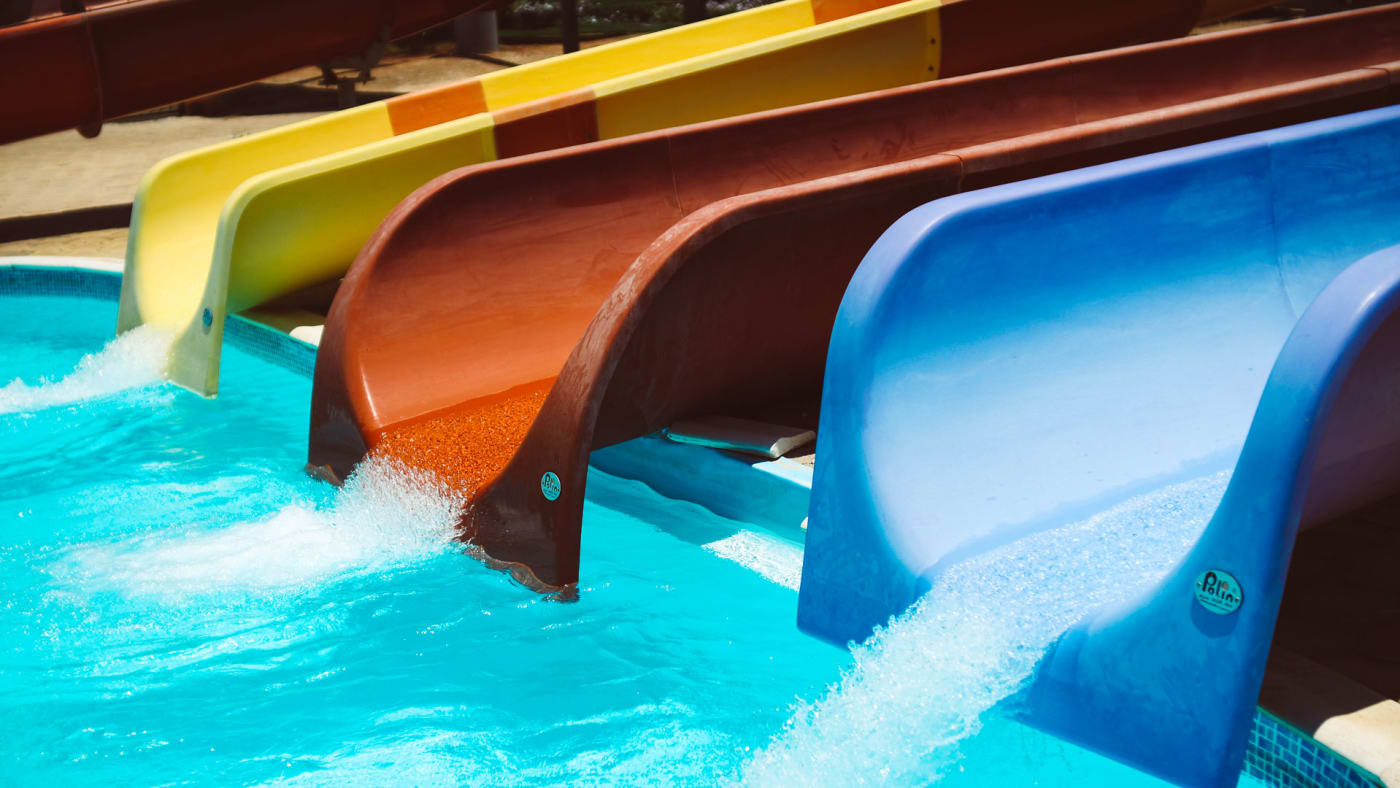 Slides at water park