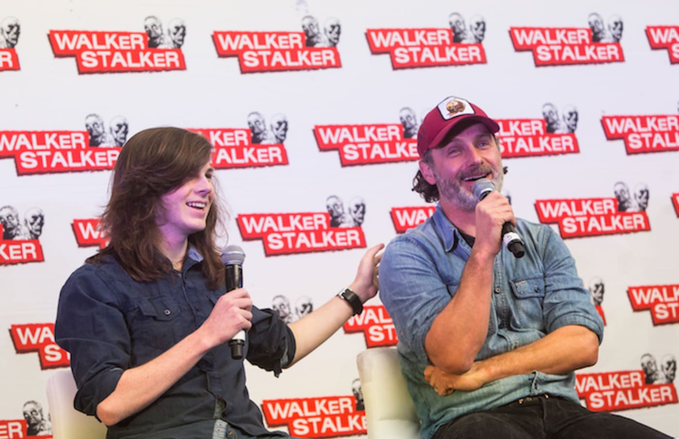 Chandler Riggs and Andrew Lincoln, stars of 'The Walking Dead.'