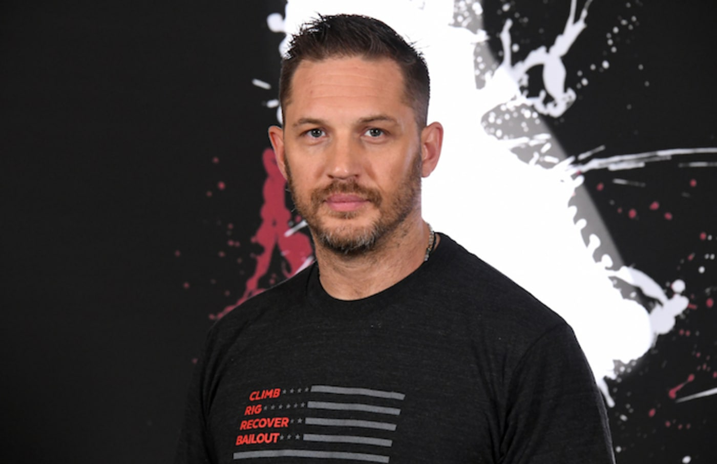 """Tom Hardy attends the photo call for Columbia Pictures' """"Venom."""""""