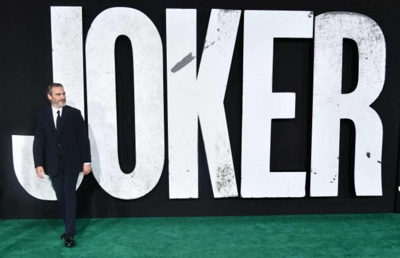 """Joaquin Phoenix attends the premiere of Warner Bros Pictures """"Joker"""""""