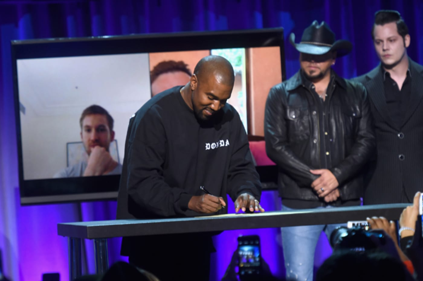 Kanye West at Tidal launch event