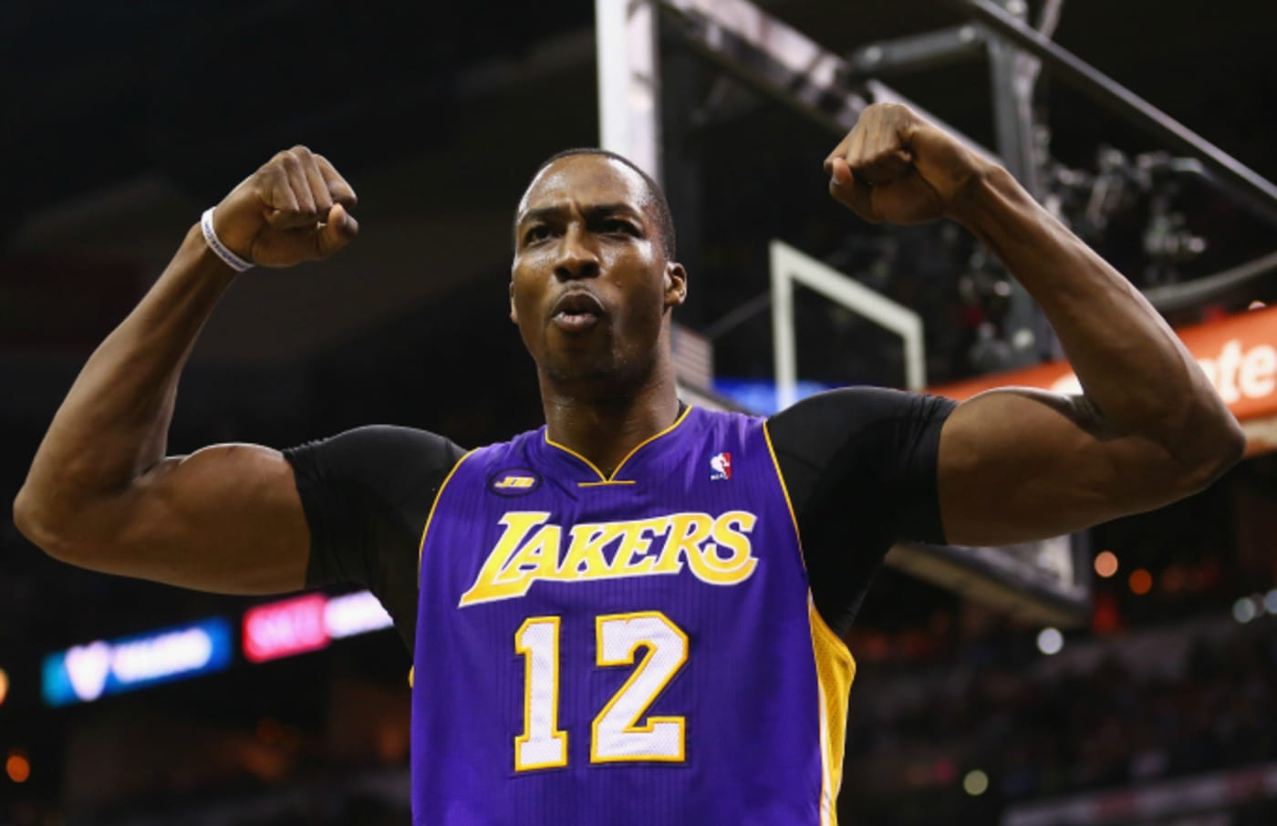 Dwight Howard #12 of the Los Angeles Lakers