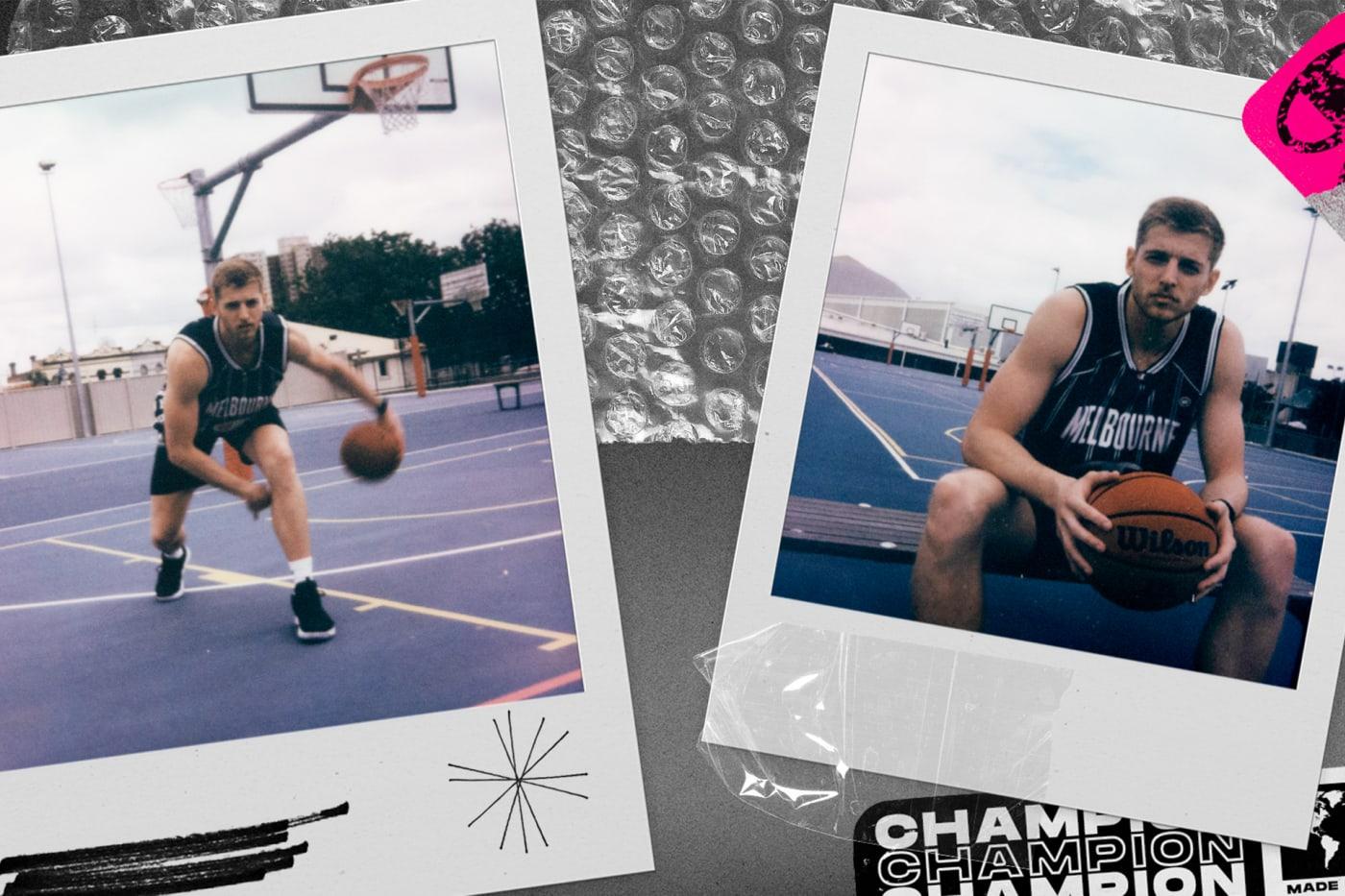 Australian basketball player Jack White for Champion x NBL