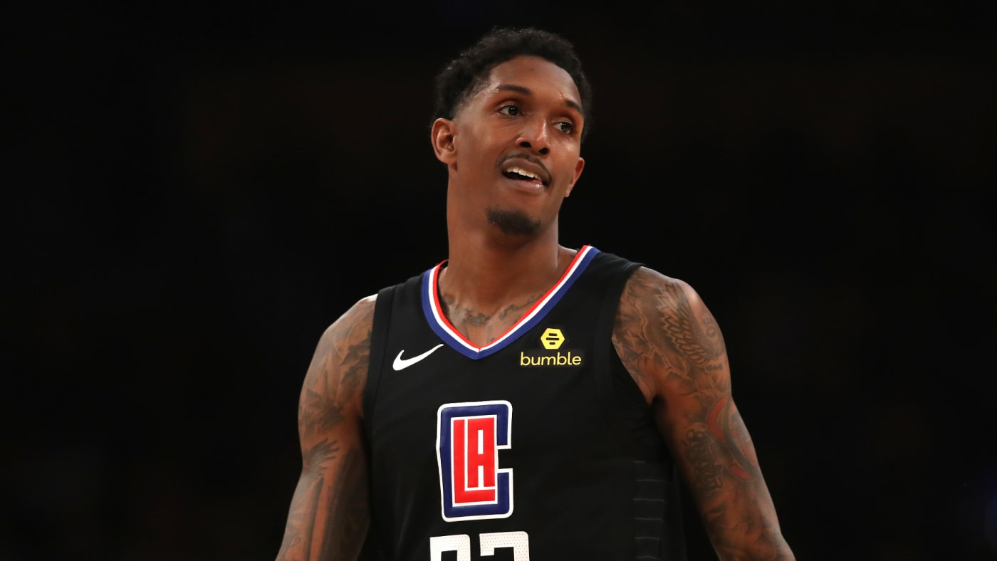 Lou Williams looks on during game against the Los Angeles Lakers.