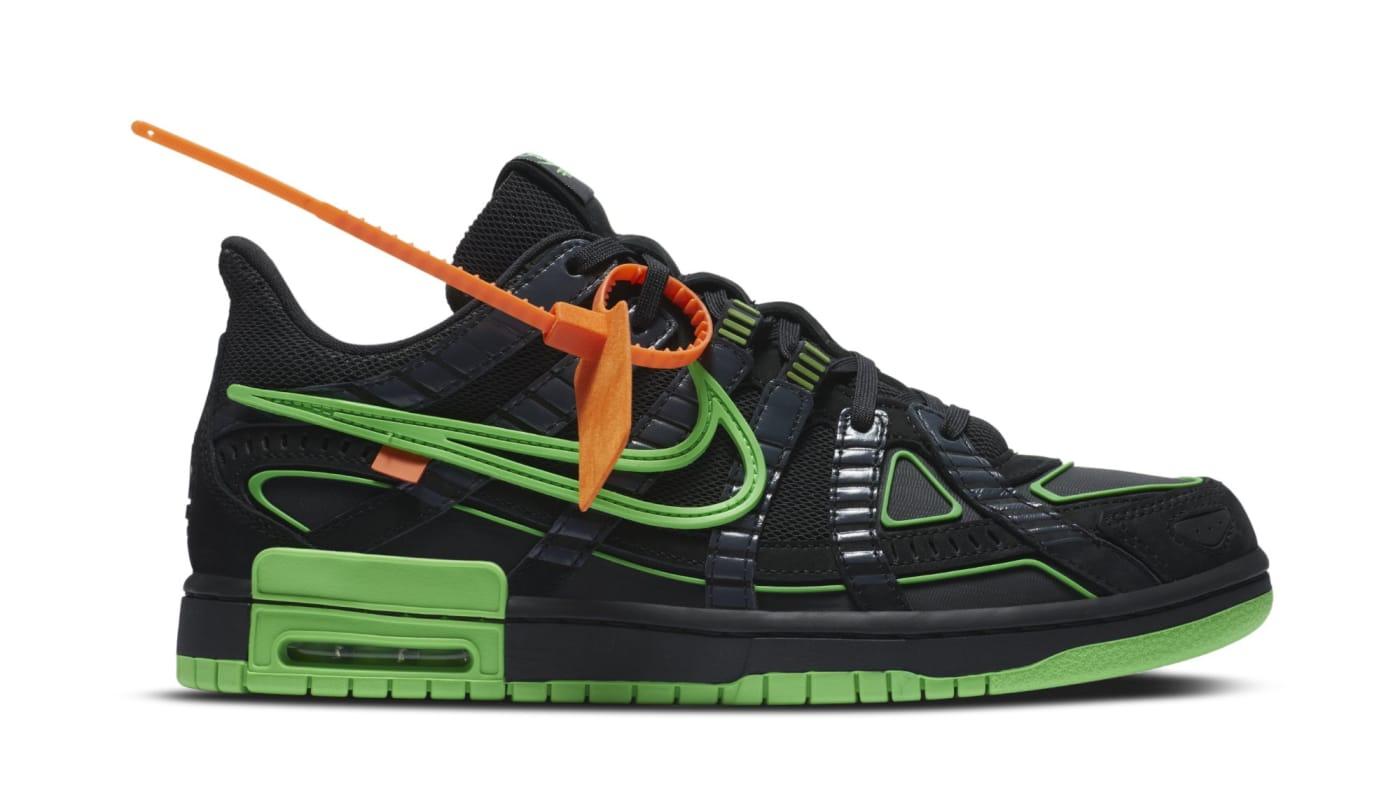 Off White x Nike Air Rubber Dunk 'Green Strike' CU6015 001 Release Date