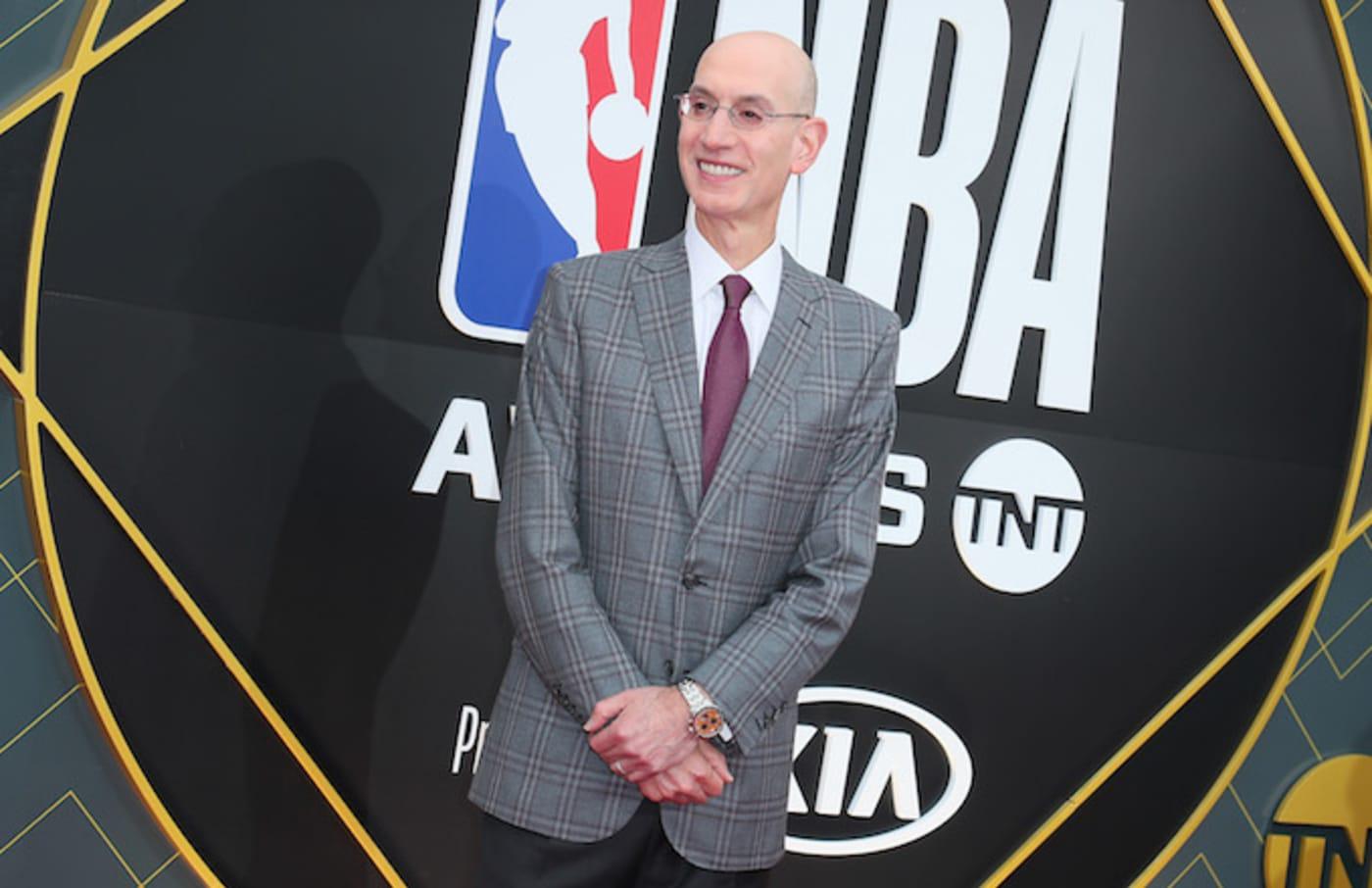 Adam Silver attends 2019 NBA Awards.
