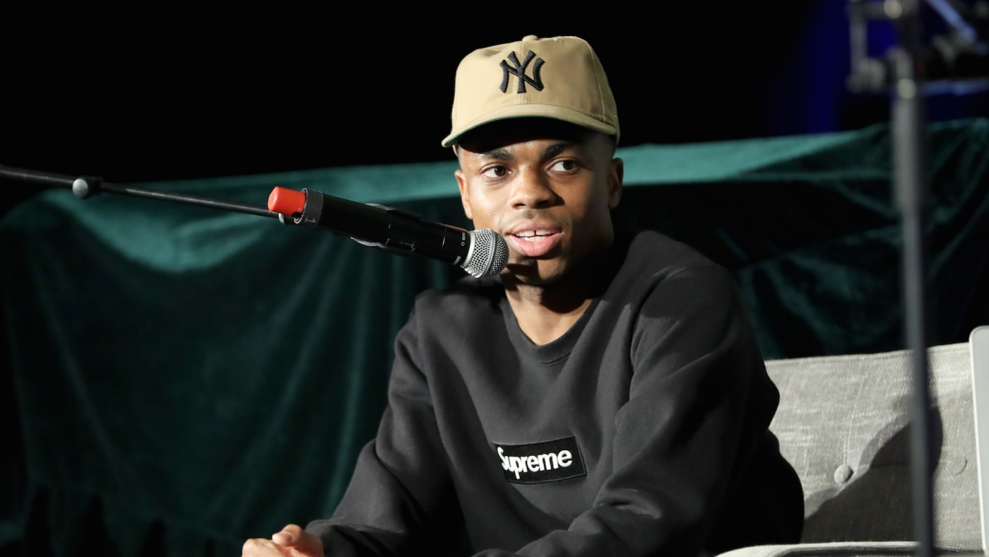 Vince Staples speaks onstage