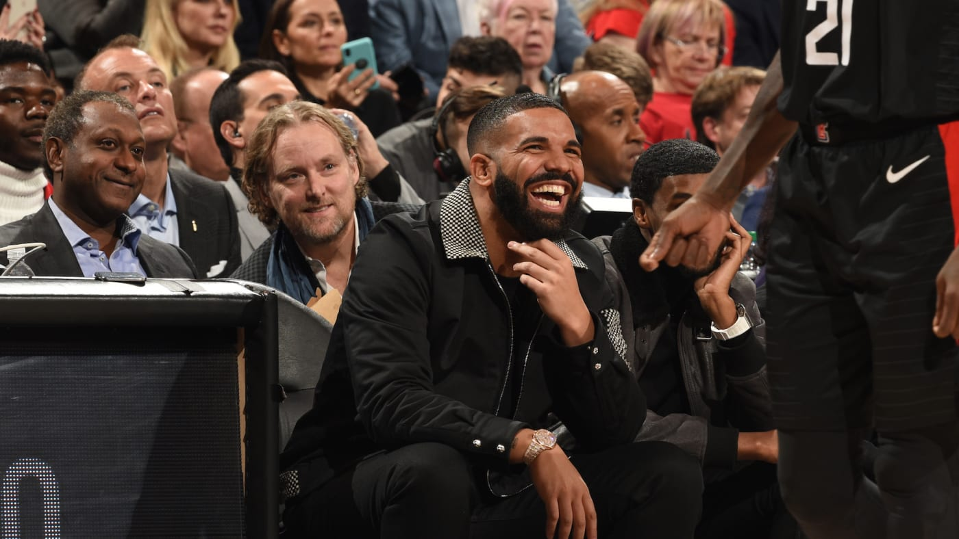 Drake at Toronto Raptors and the LA Clippers game.