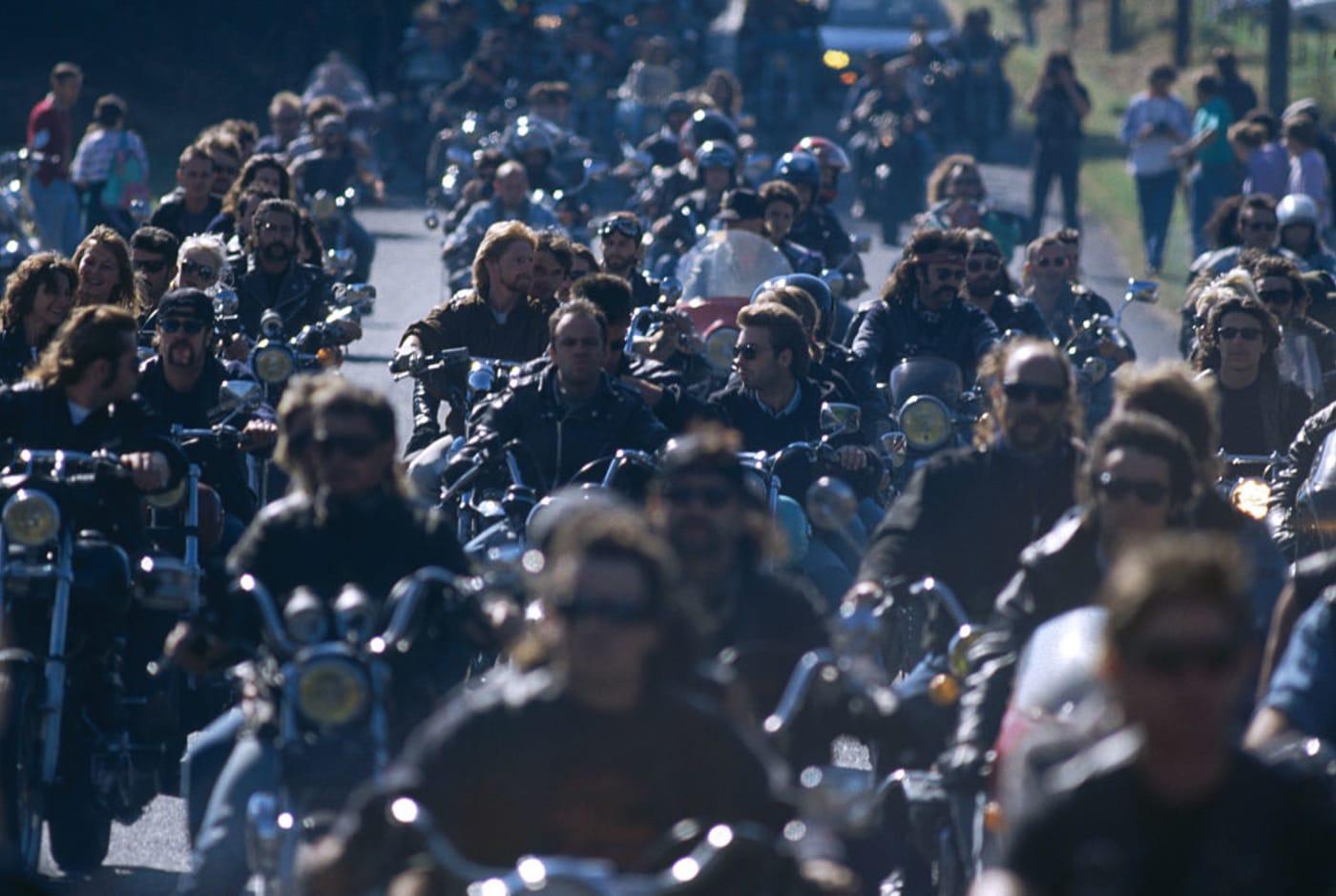 Group of bikers