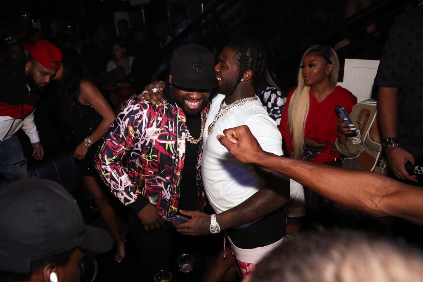 50 Cent and Pop Smoke attend Trey Songz & 50 Cent Host The Big Game Weekend 2020.