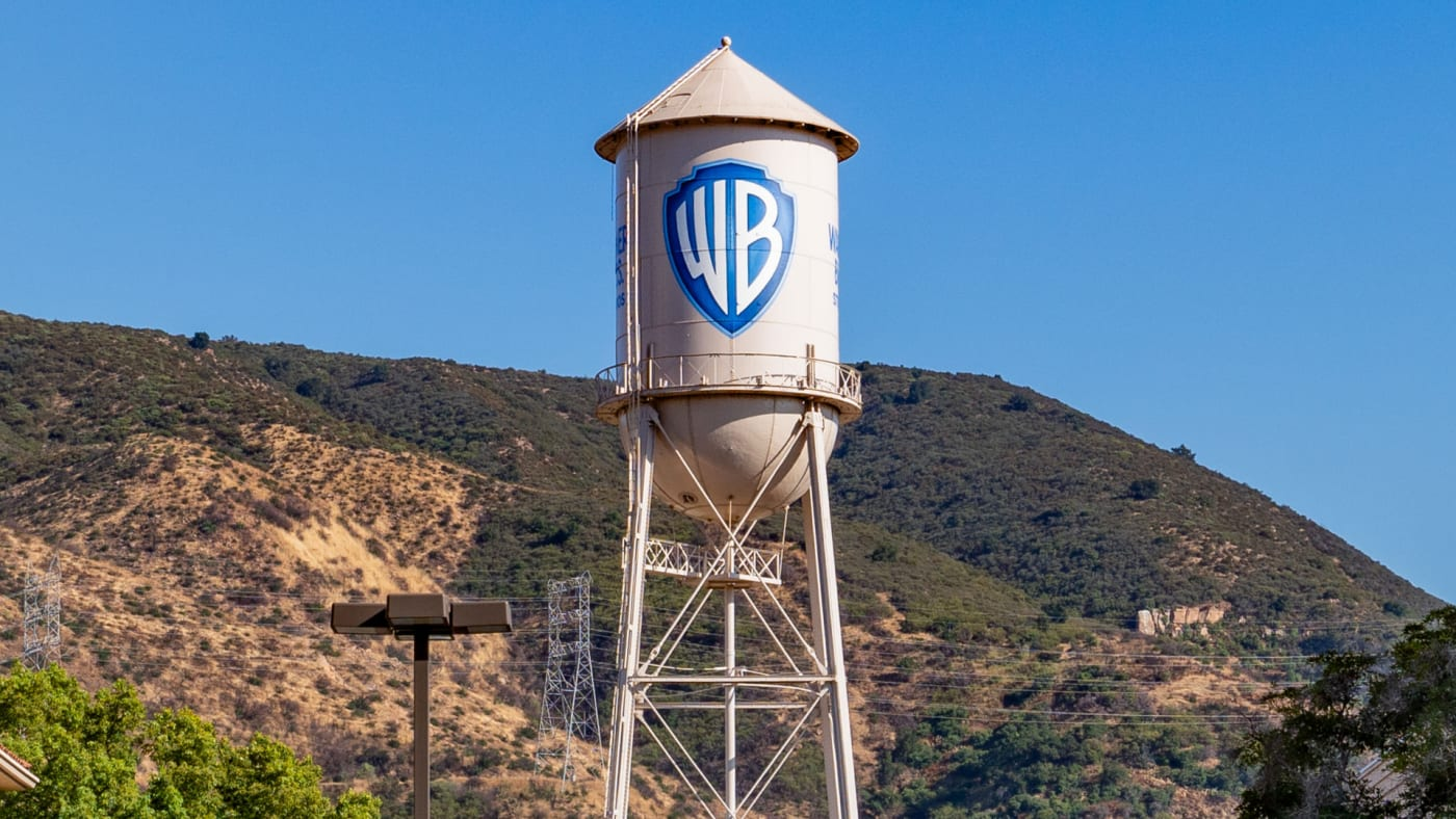 General views of the Warner Brothers film studio lot.