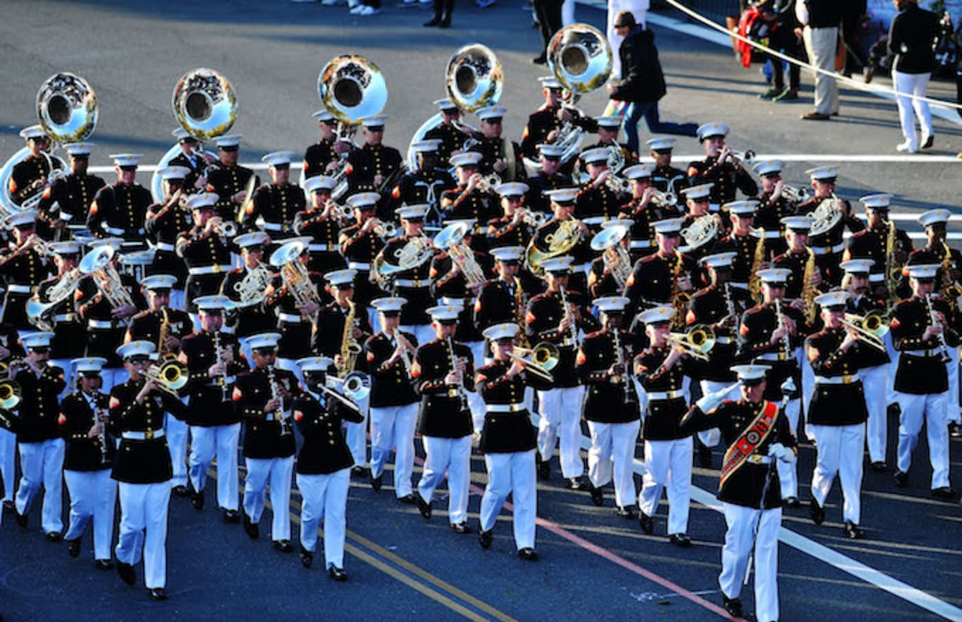 U.S. Marines at the 2018 Tournament of Roses Parade