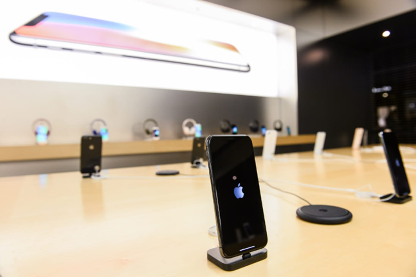 The new iPhone X at Apple Store Eaton Centre