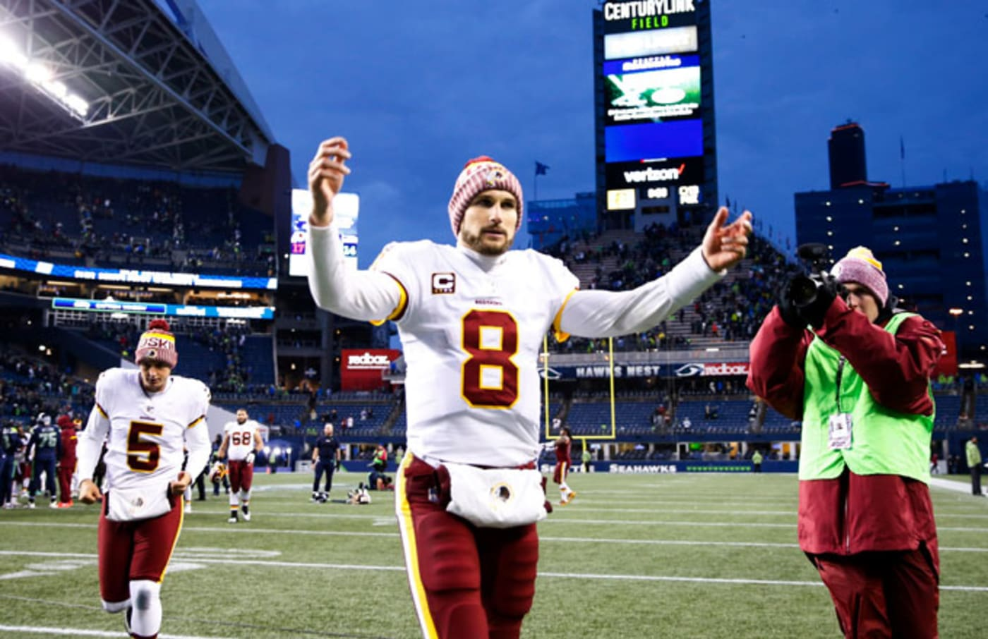 Kirk Cousins after a game at Seattle.