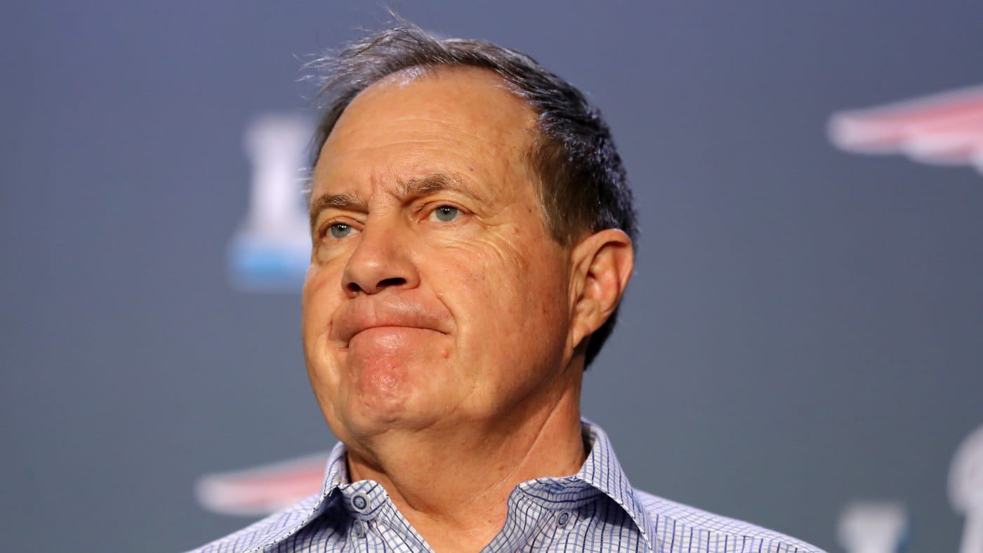 Bill Belichick speaks with the press during the Patriots Media Availability.