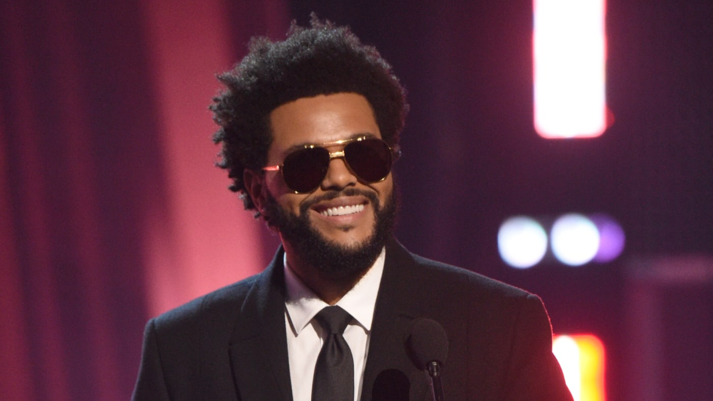 The Weeknd accepts the Male Artist of the Year onstage at the 2021 iHeartRadio Music Awards.