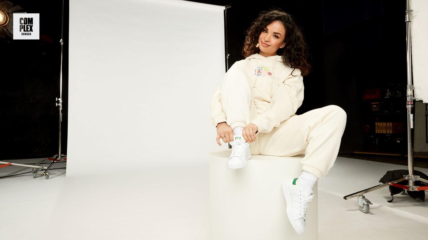 Natalya Amres poses in Adidas Stan Smith