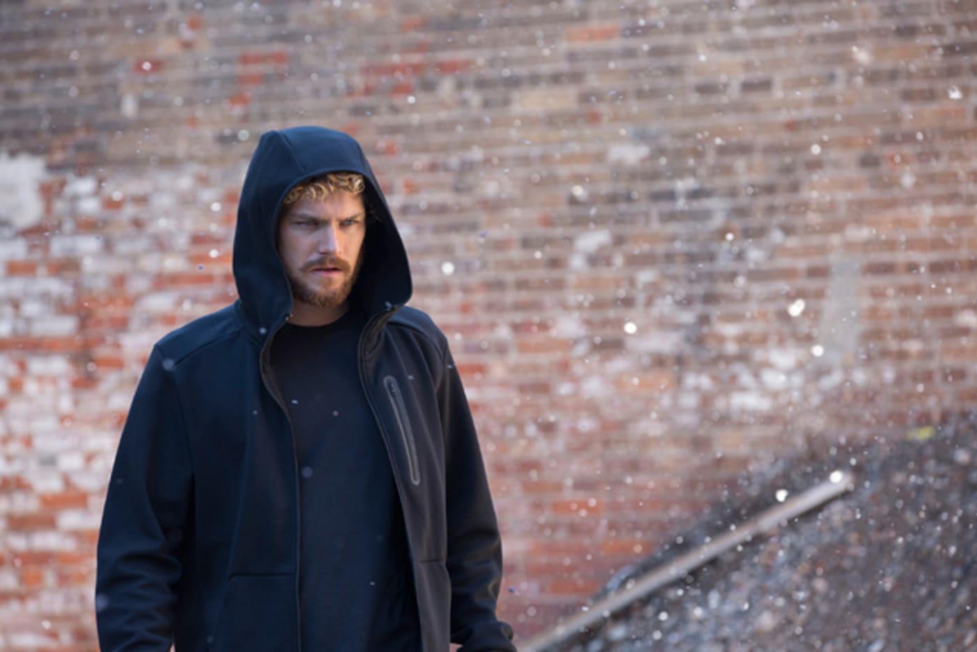 Finn Jones rocking a hoodie as Danny Rand in 'Marvel's Iron Fist'