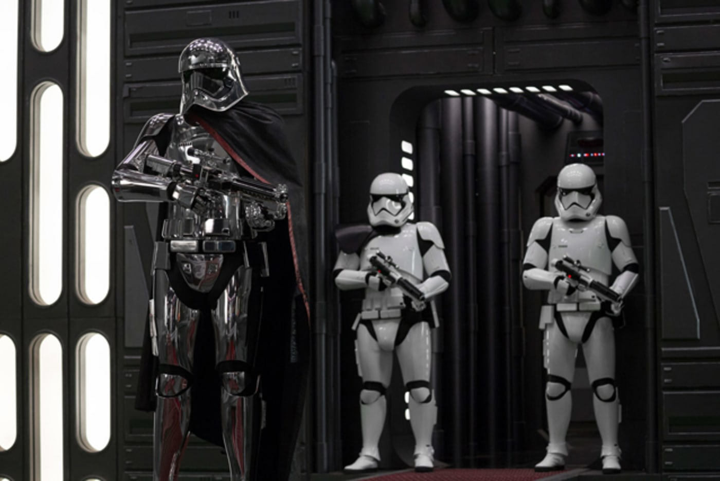 Captain Phasma and some Stormtroopers from 'Star Wars: The Last Jedi'