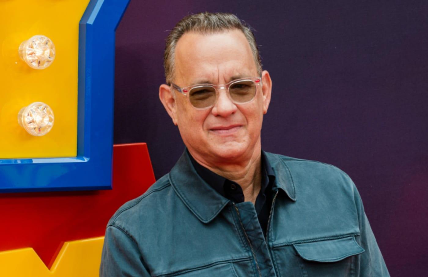 Tom Hanks arrives for the European film premiere