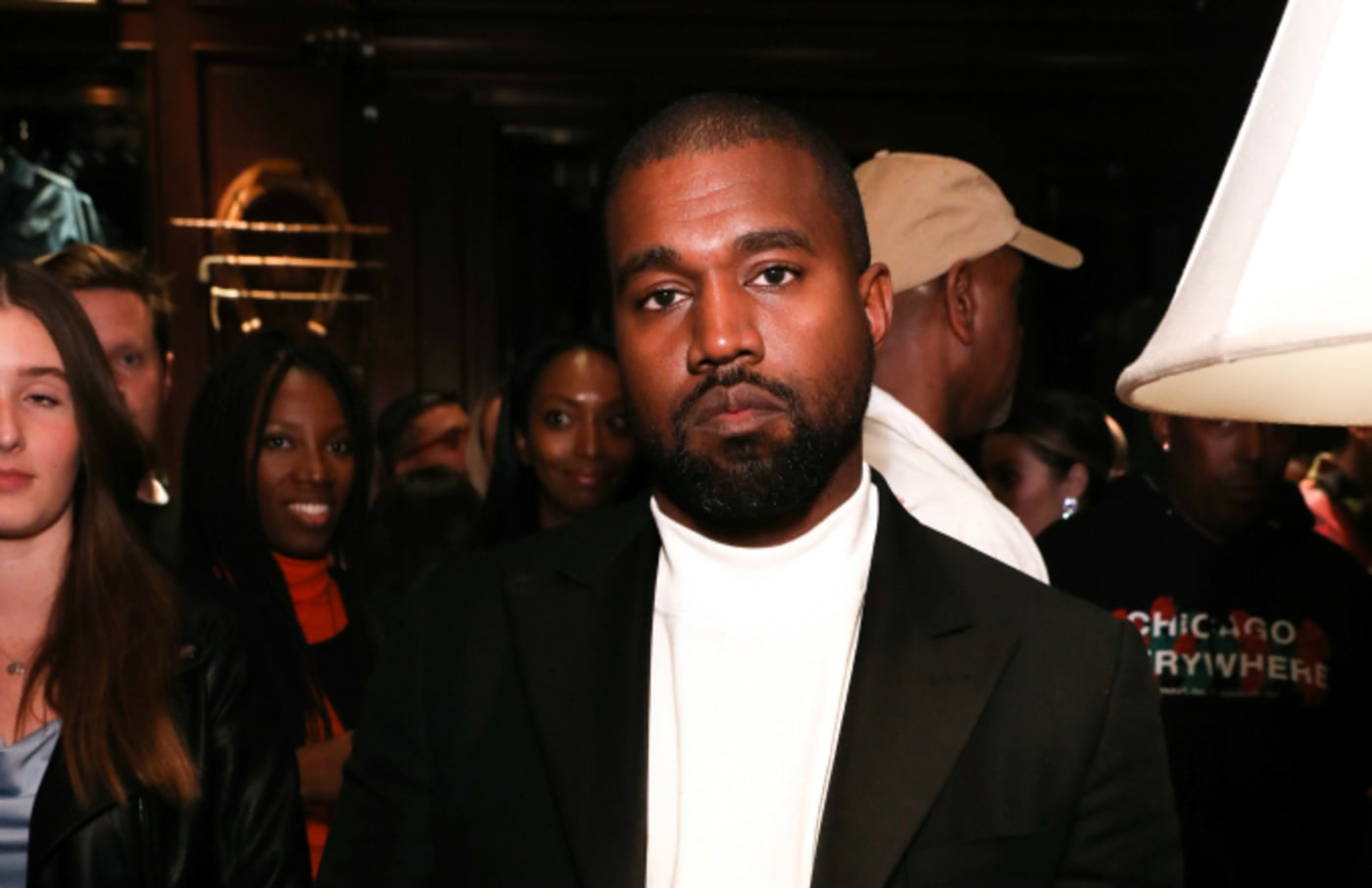 Kanye West attends Jim Moore Book Event At Ralph Lauren Chicago