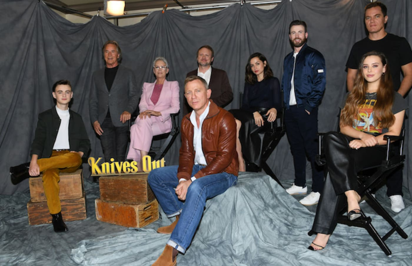 """""""Knives Out"""" cast attends the photocall for Lionsgate."""