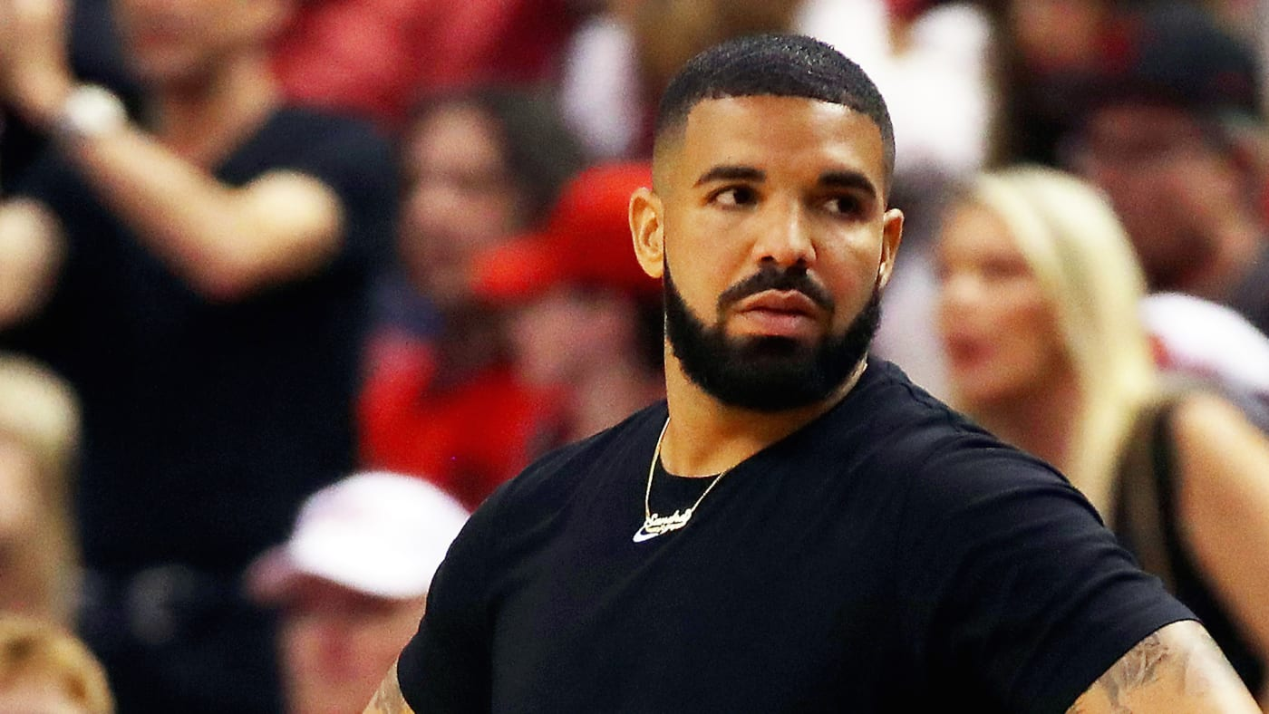 Drake reacts in the first half during Game Five