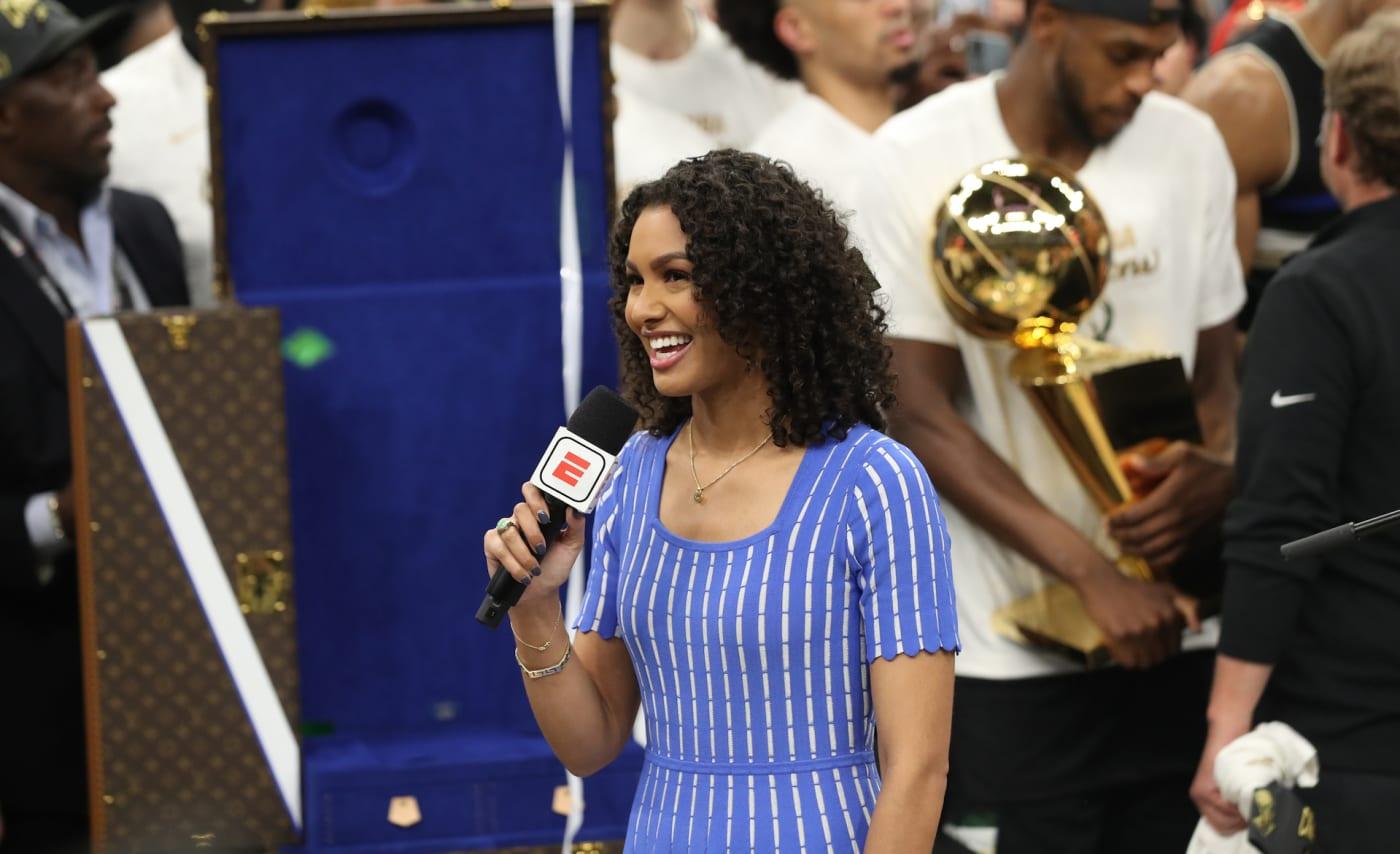 NBA reporter Malika Andrews