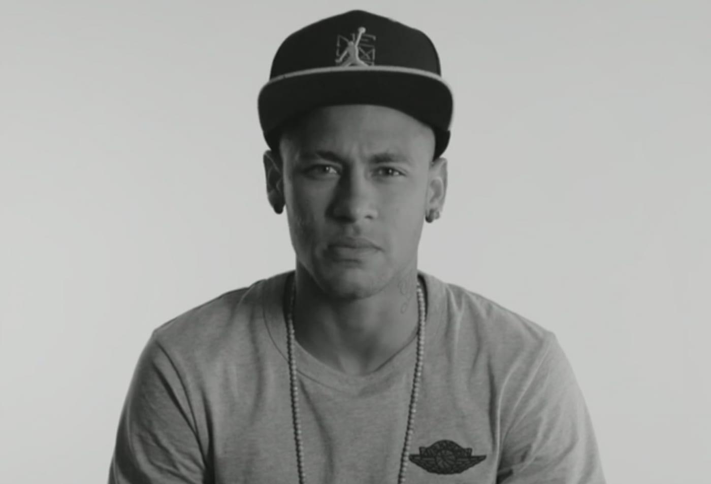 Neymar talking about his love for Air Jordans.