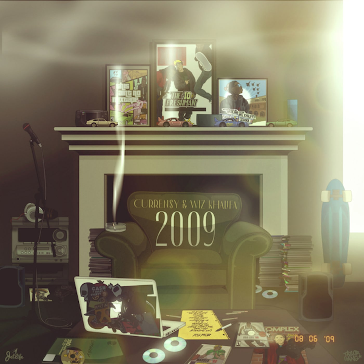 Wiz Khalifa and Currensy '2009' cover