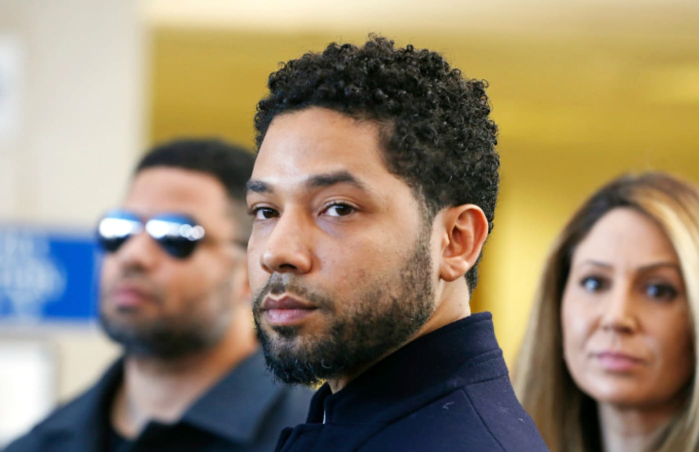 Actor Jussie Smollett after his court appearance at Leighton Courthouse