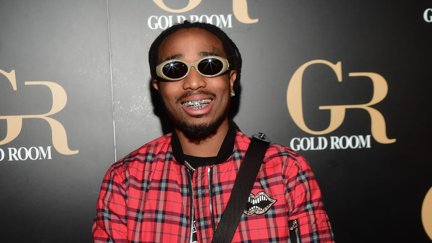 Rapper Quavo of Migos attends Hawks vs Nets After Party