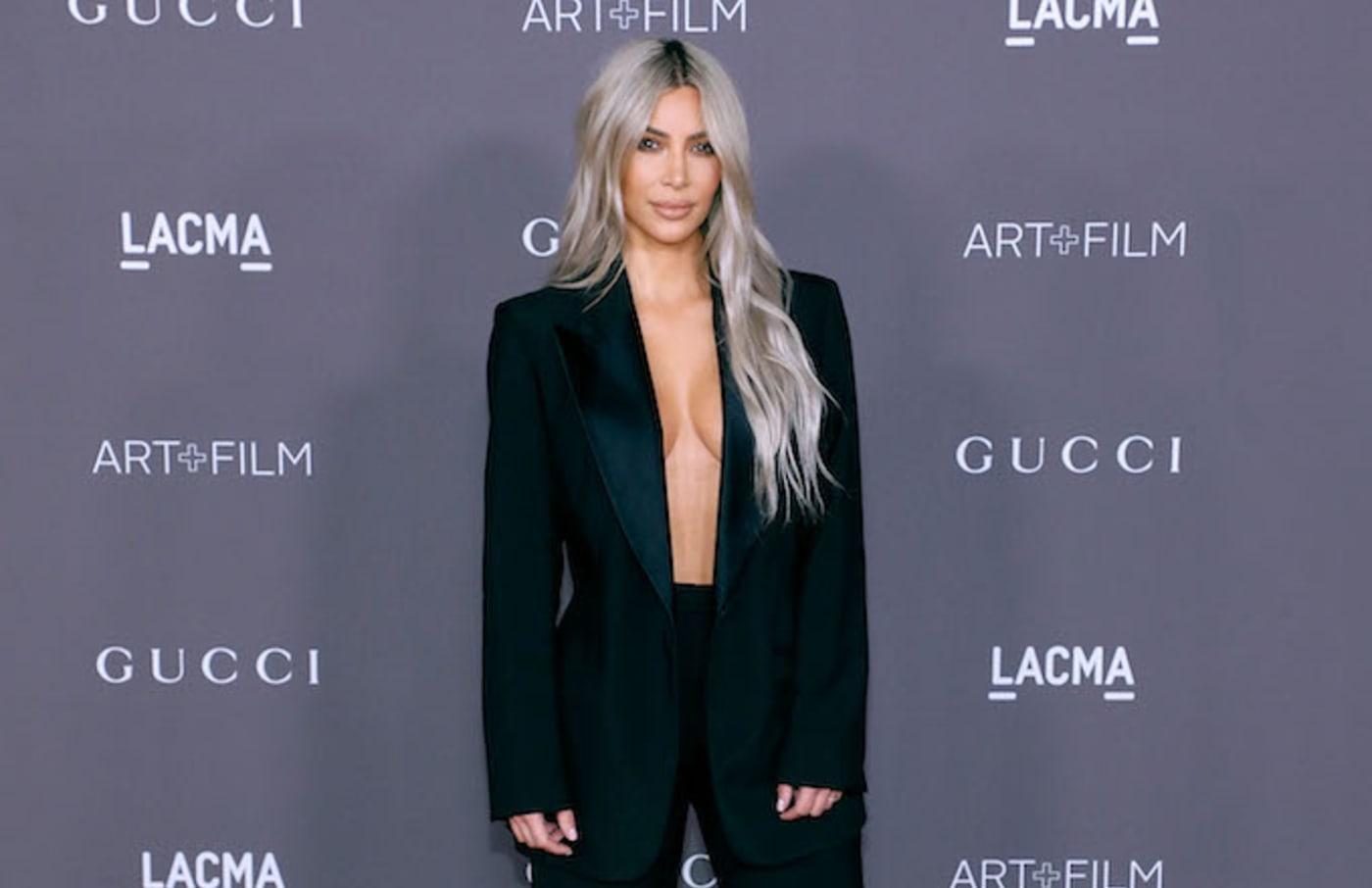Kim Kardashian West attends the 2017 LACMA Art + Film Gala.