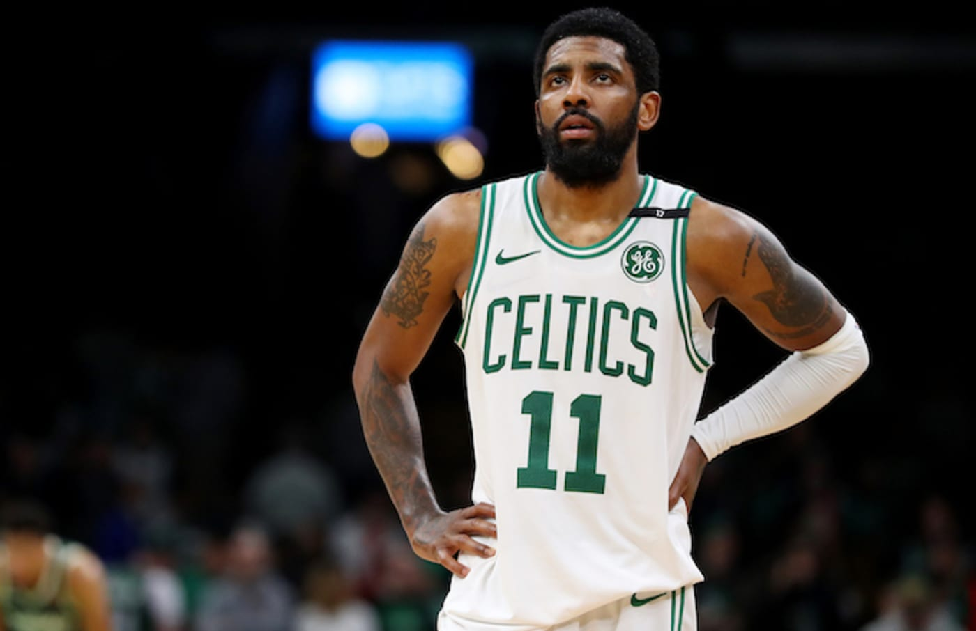 kyrie irving not happy with free throws giannis