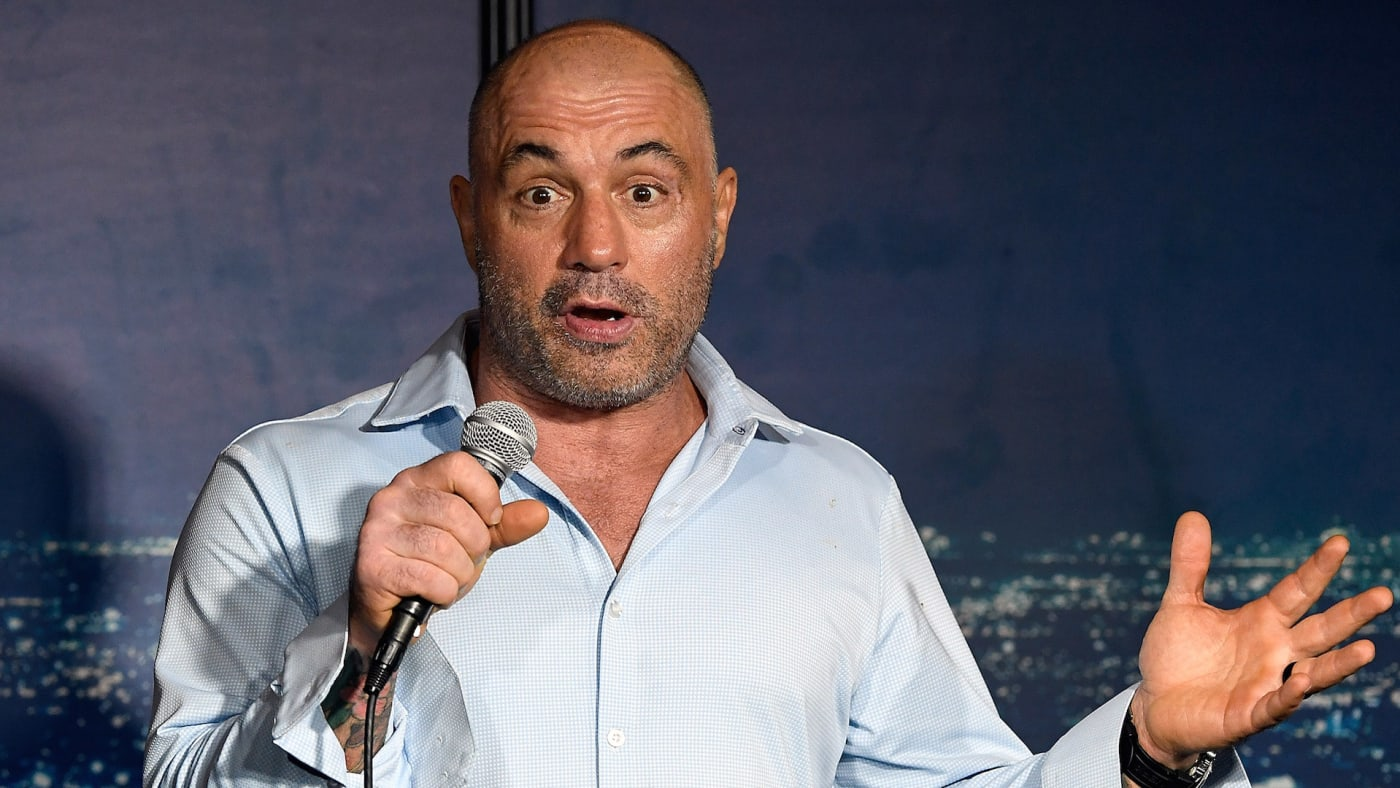 Joe Rogan performs during his appearance at The Ice House Comedy Club