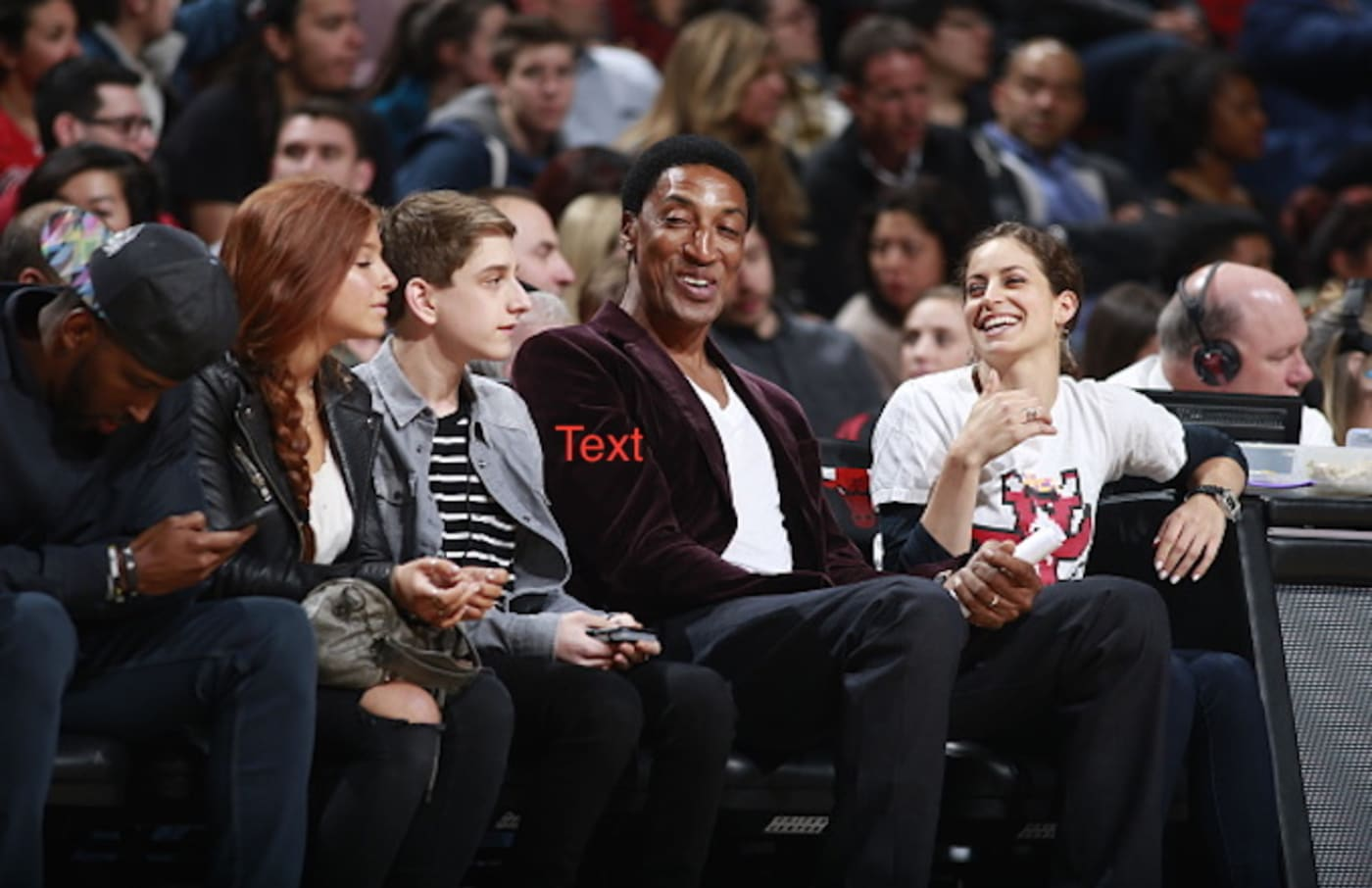 Scottie Pippen of the Chicago Bulls looks on against the Philadelphia 76ers