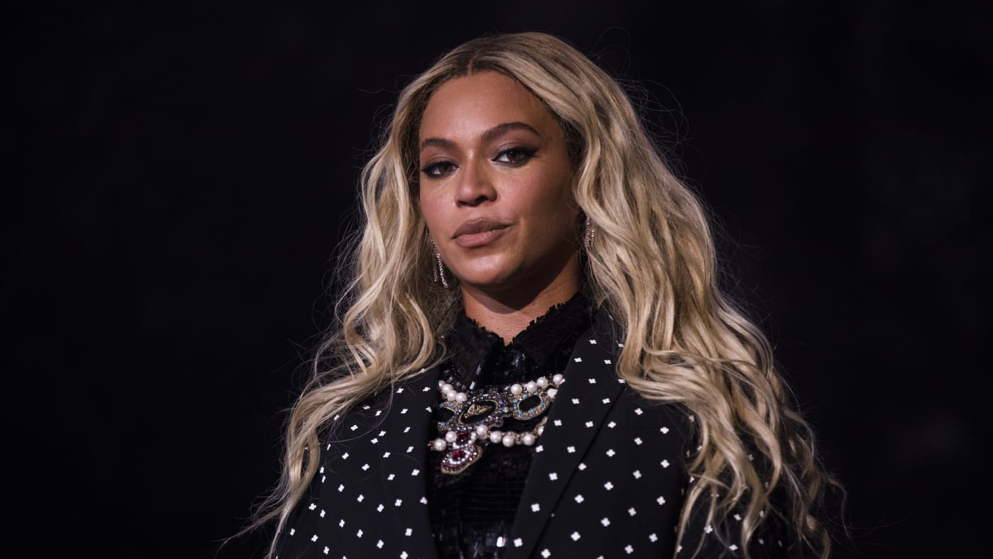 Beyonce performs at a concert for Democratic Presidential candidate Hillary Clinton.