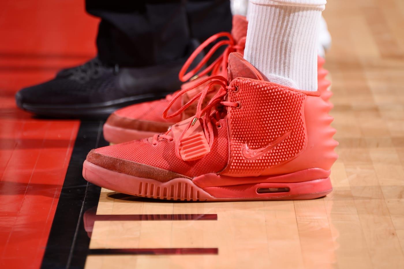 P.J. Tucker Nike Air Yeezy 2 Red October