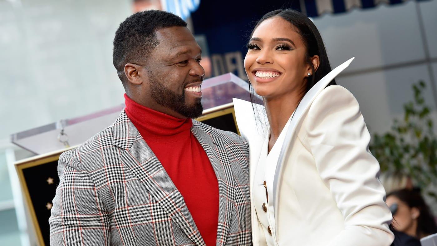 "Curtis ""50 Cent"" Jackson and Jamira Haines"
