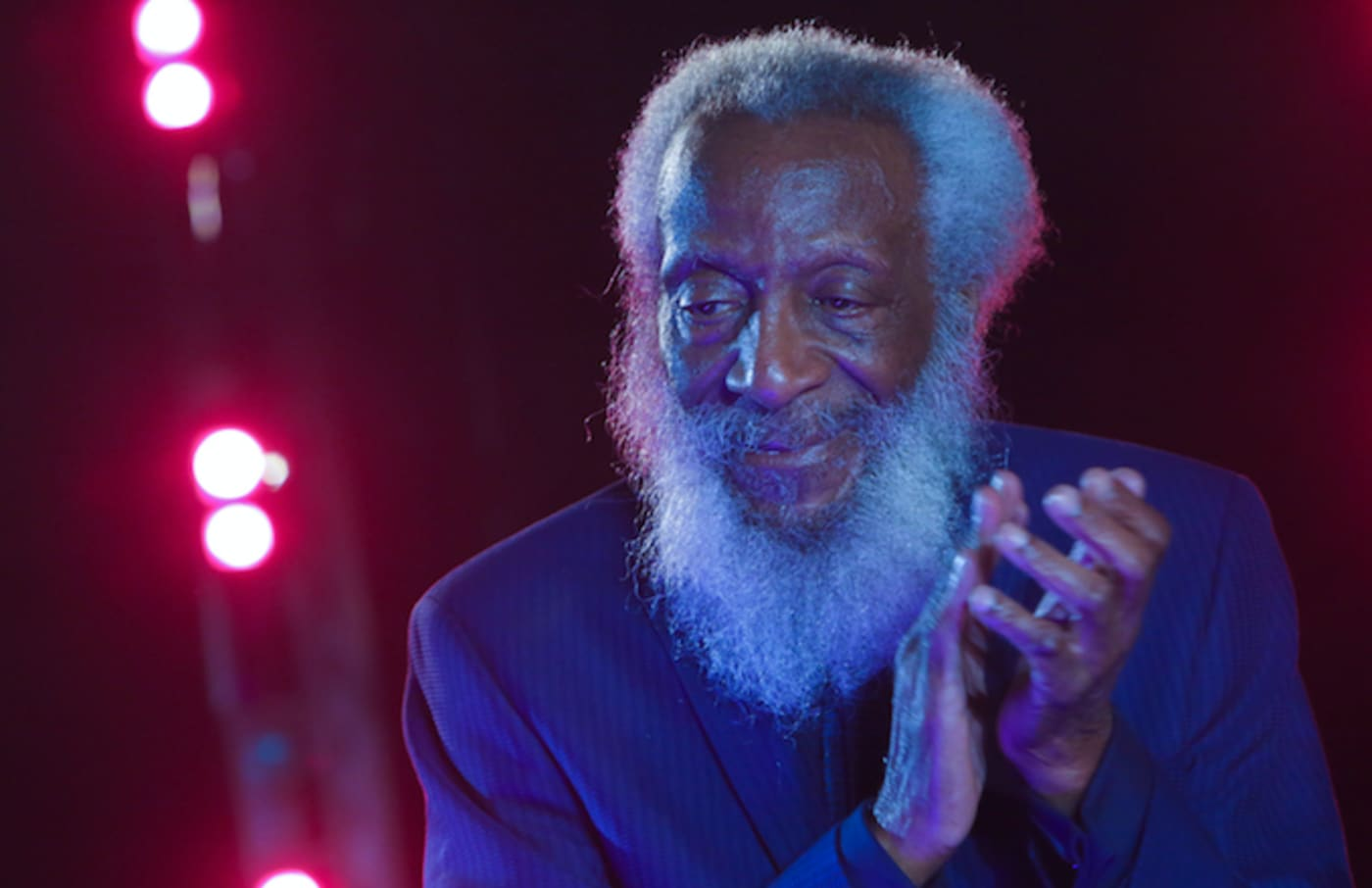 Dick Gregory onstage NYC