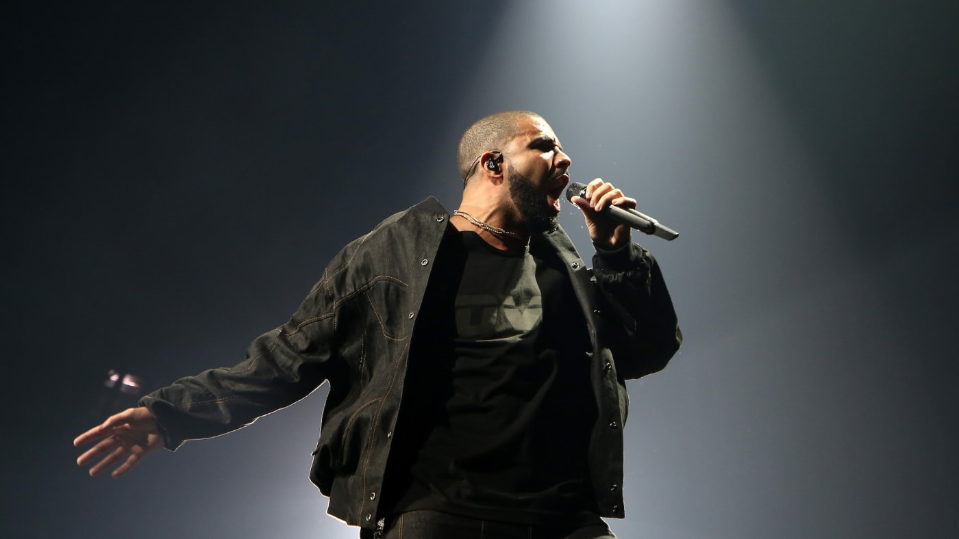 Drake Wearing an OVO Shirt