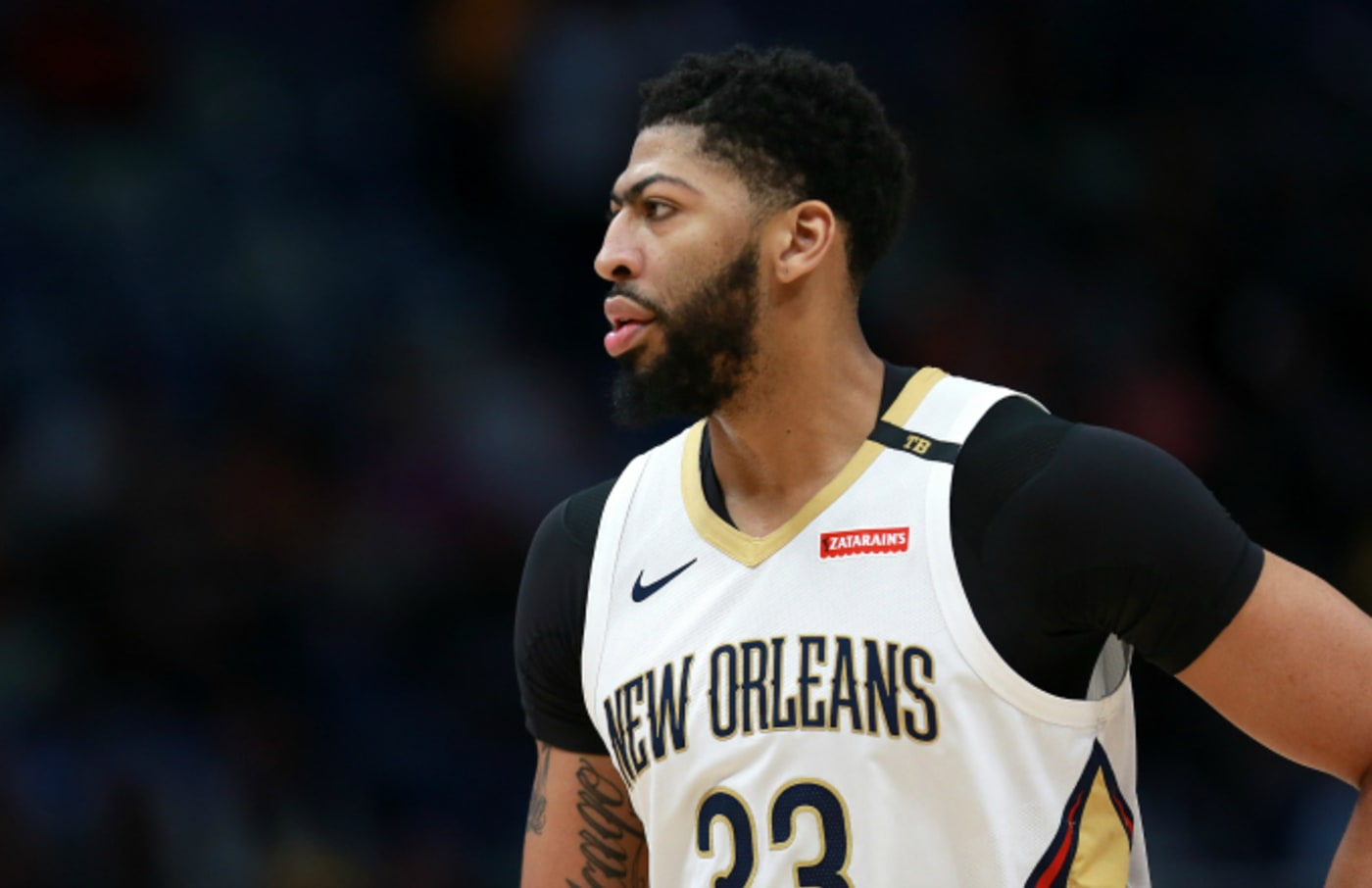 Anthony Davis #23 of the New Orleans Pelicans